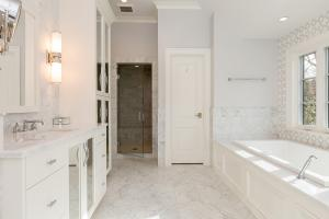 Custom designed bathroom in Washington DC