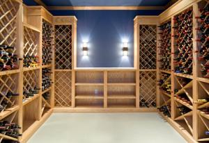 Custom built-in wine rack by Hanlon Design Build