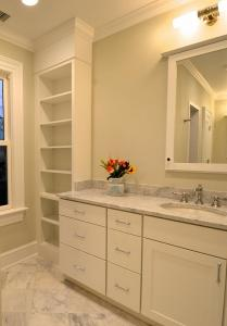 Luxury bathroom by Chryssa Wolfe with Hanlon Design Build